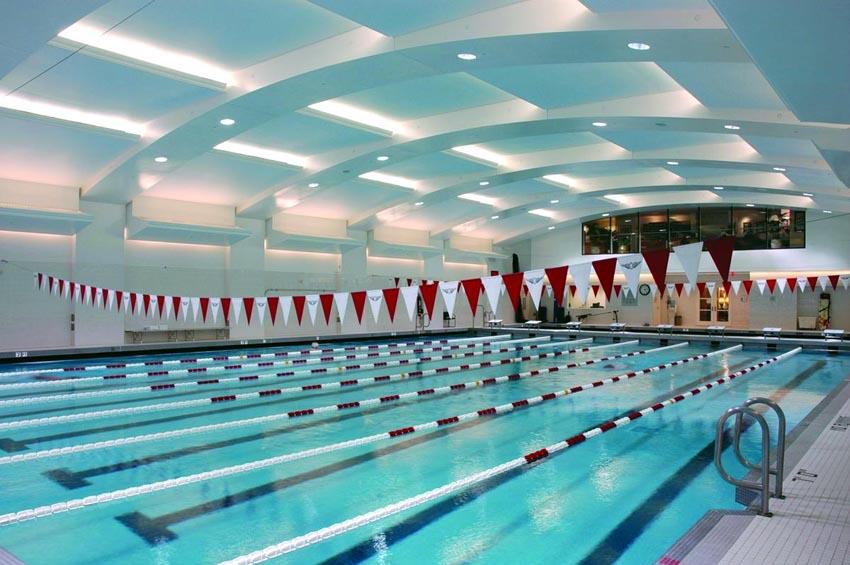 Опънати тавани над закрити басейни